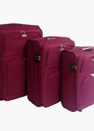 Качественные чемодан  тканевые двухколесные ormi, италия