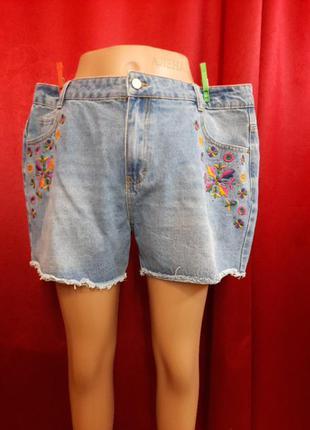 Шорты джинсовые женские большого размера