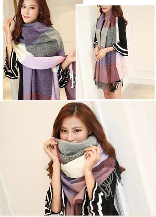 4 стильный плотный шарф, накидка, палантин, платок