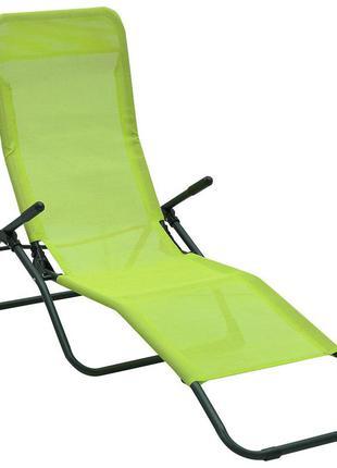 Шезлонг раскладной лежак кресло