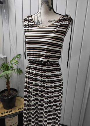 Жіноча сукня в полоску сарафан  брендовое платье в пол