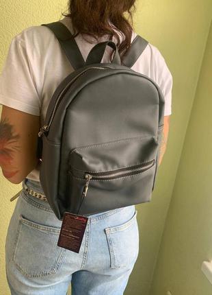 Распродажа/sale/скидка женский подростковый серый стильный рюкзак для школы