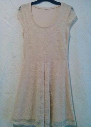 Кружевное платье h&m 140-146