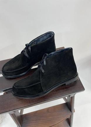 Замшеві лофери замшевые лоферы ботинки