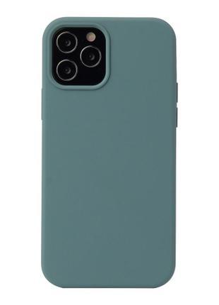 Чехол silicone case для apple iphone 12 /12 pro  хвоя pine green