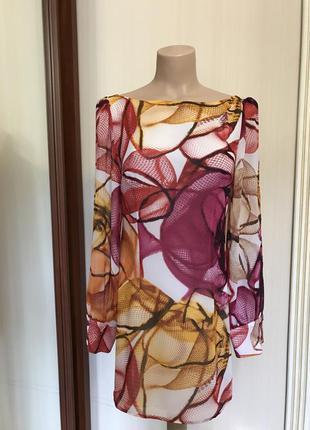 Платье шифоновое,расцветка в стиле roberto cavalli