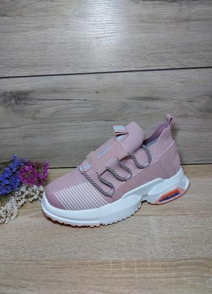 На платформе 🌿 кроссовки женские кросівки летние осенние текстиль сетка