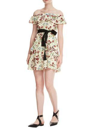 Платье maje paris floral silk оригинал шелковое платье