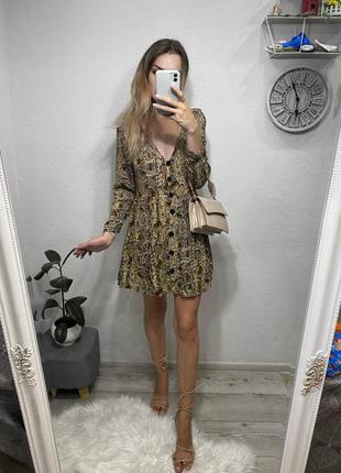 Шикарное мини платье zara