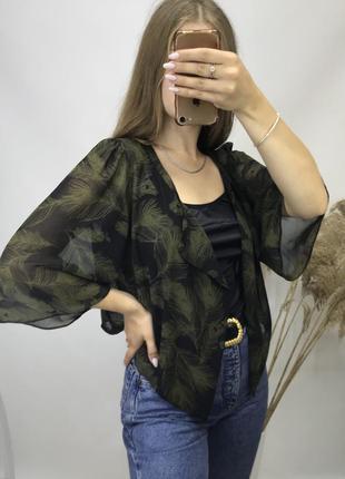 F&f полупрозрачная накидка пляжная разлетайка блуза блузка