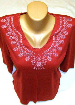 Женская нарядная футболка 44-46 р
