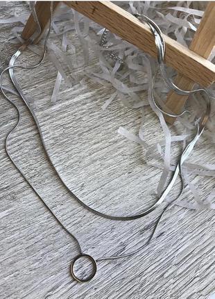 Двойная подвесочка в серебре 🤩 xuping