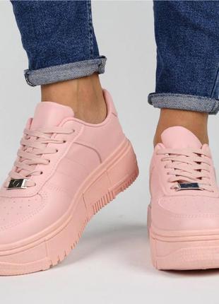 Розовые женские кеды , новинка, качественная обувь