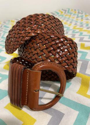 Пояс кожаный коричневый