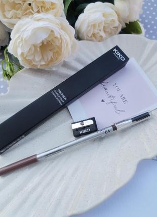 Олівець для брів precision eyebrow pencil kiko milano