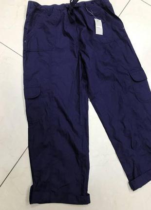 🆘🔥последняя цена до 12 сентября 🆘🔥    темно синие женские бриджи