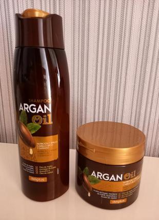 Для сухих и повреждённых волос шампунь и маска argan oil