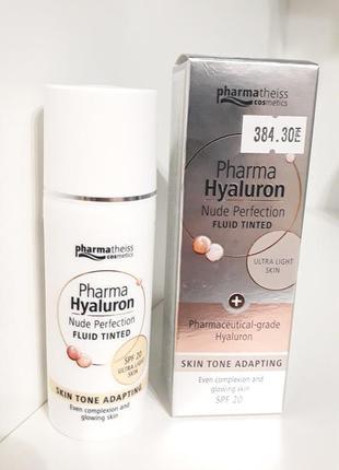 Флюид тонирующий pharma hyaluron nude perfection spf 20, 50 мл bb крем