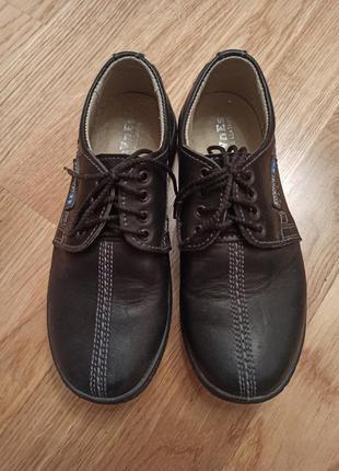 Кожанные детские туфли
