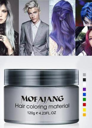 Віск для тимчасового фарбування волосся  (колір синій та білий)