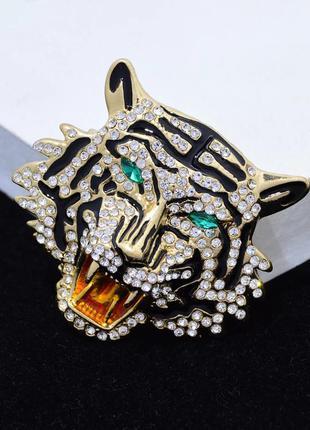 Брошь тигр. большая кошка. для мужчин и женщин