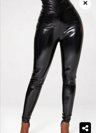 Шикарные виниловые штаны лосины prettylittlething😍😘🌹