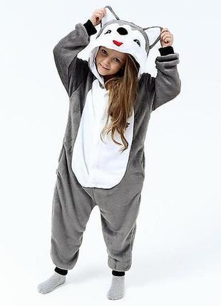 Кигуруми пижама хаски маламут собака кенгуруми кингуруми детские