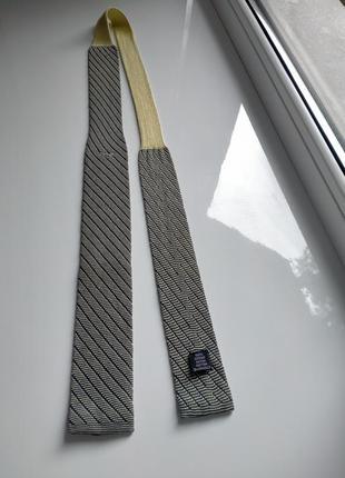 Вязаный квадратный галстук в полоску от giorgio armani