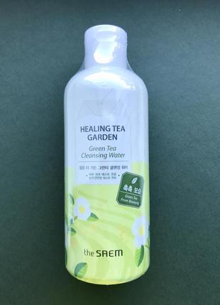 Мицеллярная вода с зеленым чаем the saem green tea healing tea garden cleansing water