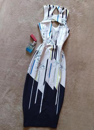 Шикарное нарядное длинное платье футляр с кружевными вставками на талии красивое декольте