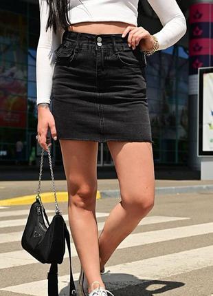 Хит!юбка джинсовая подростковая/женская
