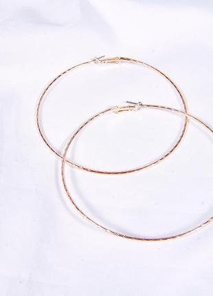 Крупные серьги круглые, серьги кольца, большие серьги кольца, сережки
