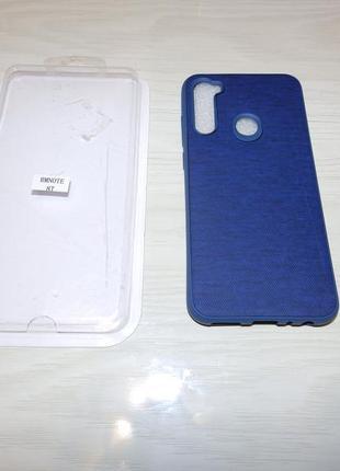Чехол jeans для xiaomi redmi note 8t цвет синий . смотрите фото !!!