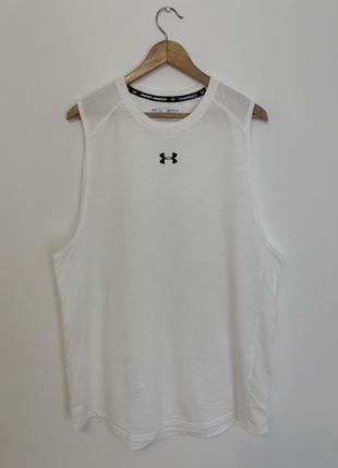 Майка футболка under armour белая мужская оригинал