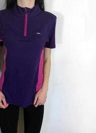 Женская спортивная футболка crane ( кран с-мрр идеал оригинал фиолетовая)