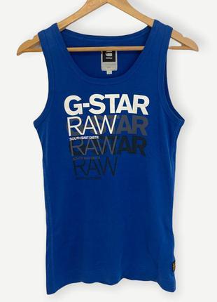 Майка футболка g-star raw мужская оригинал синяя