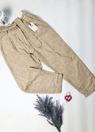 Натуральные льняные брюки лён