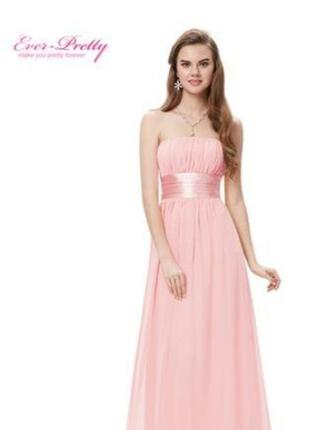 Вечернее платье нежно розовое