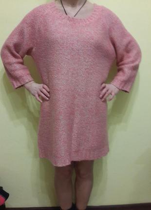 Стильный ,длинный свитер h&m , платье,оверсайз