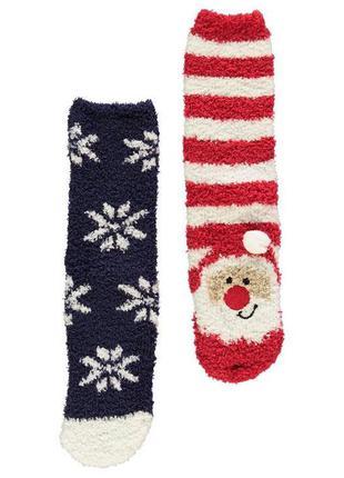 Набор махровых носков рождественские носки очень мягкие дитячі шкарпетки