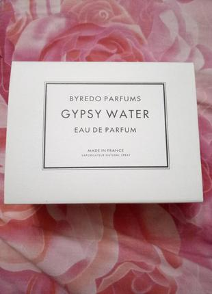 Парфюм byredo gypsy water (циганская вода)