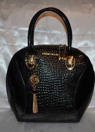 Красивая лаковая сумка forstmann, оригинал