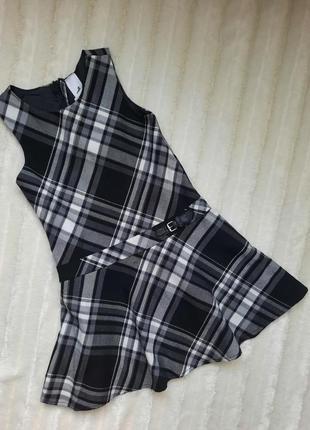 Сарафан платье в клетку на подкладке