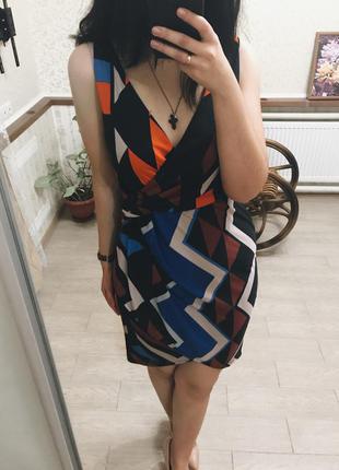 Платье в геометрический принт next