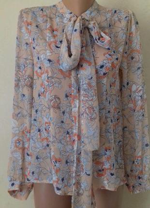 Новая блуза с принтом papaya