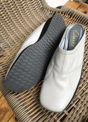 Туфли лоферы, сабо натуральная кожа серые нюд мюли фирменные
