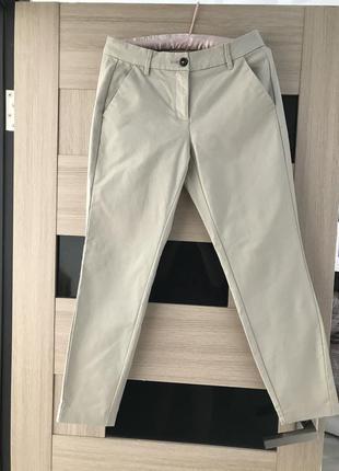 Бежевые стильный чиносы , брюки s.oliver, diesel