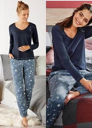 Теплая женская пижама? домашний костюм (штаны флис), евро 40-42