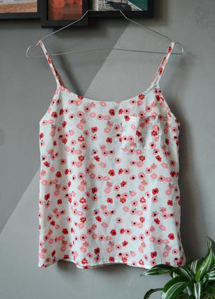Милая блуза топ в цветочки h&m