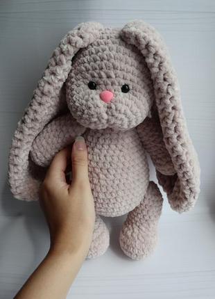 Зайка амигуруми плюшевый заяц